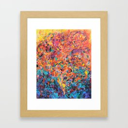 Walk in the sky Framed Art Print