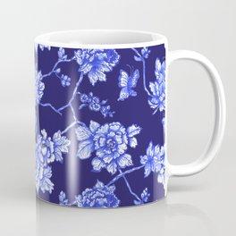 Chinoiserie Foral Navy Coffee Mug