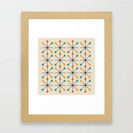 Midcentury Pattern 02 Framed Art Print