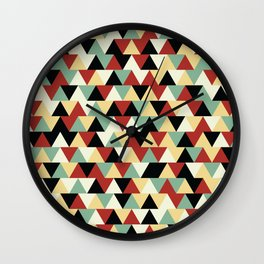 Linoleum Triangles Wall Clock