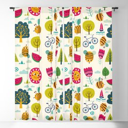 Summer and Bees Blackout Curtain