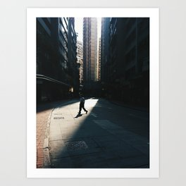 Wading through the light [Limited Edition] Art Print
