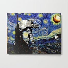 Starry Night versus the Empire Metal Print