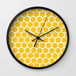 Honey-coloured Honeycombs Wall Clock