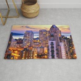 Yaletown Voyeuristic 0361 Vancouver Cityscape View English Bay British Columbia Canada Sunset Travel Rug