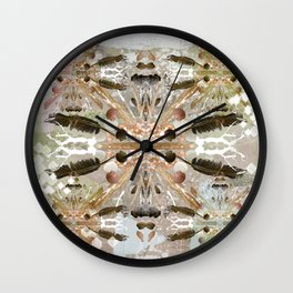 Tribal abstract natural Wall Clock