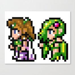 Final Fantasy II - Rosa and Rydia Canvas Print