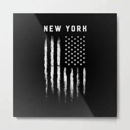 New York White Flag Metal Print