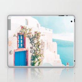 Santorini Greece Cozy blush travel photography in hd. Laptop & iPad Skin