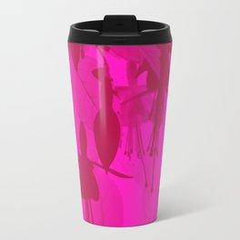 Pink Duotone Fuschias Travel Mug