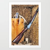 winchester Art Prints featuring Winchester Rifle by Captive Images Photography
