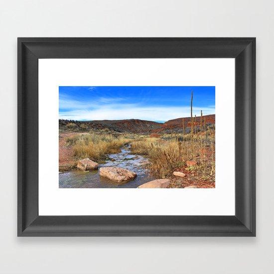 Sand Creek Framed Art Print