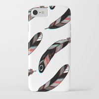 feathers iPhone & iPod Cases featuring FEATHERS by JoanaRosaC