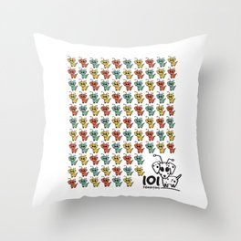 101 dalmartians Throw Pillow