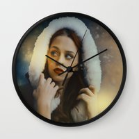 belle Wall Clocks featuring Belle by Rose's Creation
