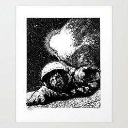 Astro Zombie Art Print