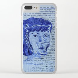 female of the species Clear iPhone Case