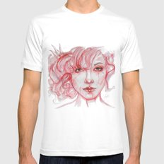 Queen of hearts Mens Fitted Tee MEDIUM White
