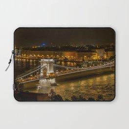 Budapest Bridge Water Chain bridge Laptop Sleeve