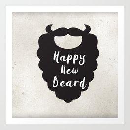 Happy New Beard Art Print