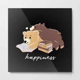 Happiness Brown Bear Metal Print