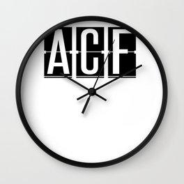 ACF - Brisbane - Queensland Australia - Airport Code Souvenir or Gift Design  Wall Clock