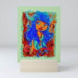 Rock Out Rhonda (Painting) Mini Art Print