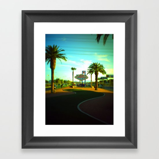 The Long & Winding Framed Art Print