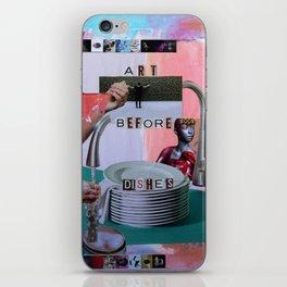 Art Before Dishes iPhone Skin
