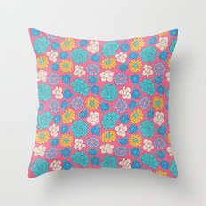 RocoFlowers (strawberry) Throw Pillow