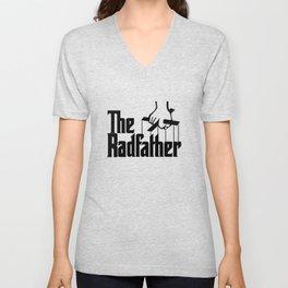 The Radfather Tshirt, Fathers Day Tshirt, Fathers Day Gift, Fathers Day, Dad Gift Unisex V-Neck