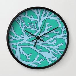 coral aqua Wall Clock