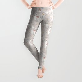 Sweet Llama on Gray Leggings