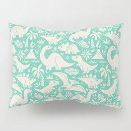 Delightful Dinos (teal) Pillow Sham
