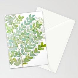 Meraki Simple Green Fern Stationery Cards