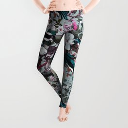 Floral and Birds XXIV Leggings