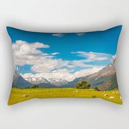 Beautiful Pastoral Alpine Landscape in New Zealand Rectangular Pillow