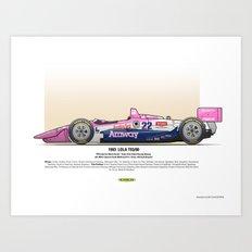#22 LOLA - 1993 - T9300 - Brayton Art Print