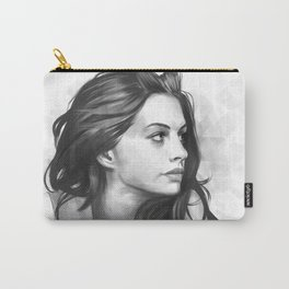 Anne Hathaway minimalist illustration Carry-All Pouch