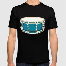 Drum - Red Black Mens Fitted Tee SMALL