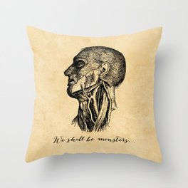 Frankenstein - Mary Shelley - We Shall Be Monsters Throw Pillow
