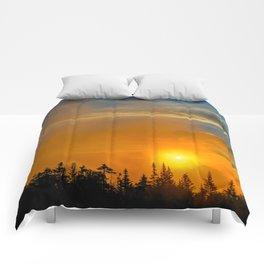 Gold Mist Sunset Comforters