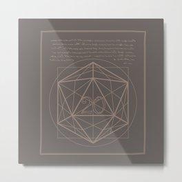 D20-Critical Hit Metal Print