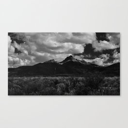 Dramatic Clouds over Mountain Range in Big Bend Canvas Print