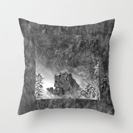 Rocks in the falls Throw Pillow