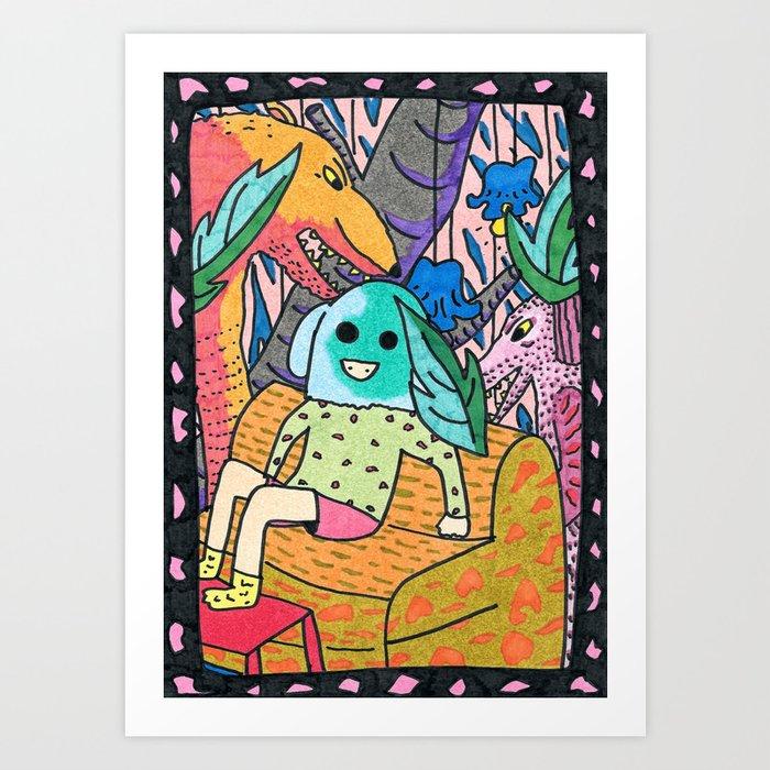Sick Couch Art Print