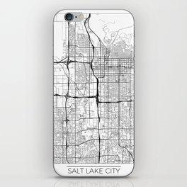 Salt Lake City Map White iPhone Skin