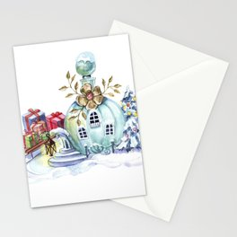 Magic pitcher house with a flashlight and gifts Stationery Cards