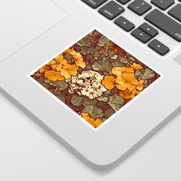 Orange Geranium, Plant of Feminine Healing Sticker