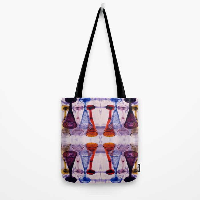 Wine Glass Photographic Pattern #2 Tote Bag